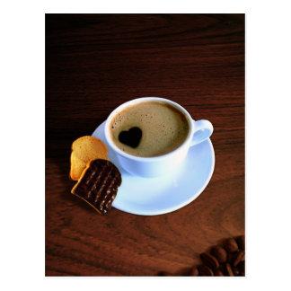 Tasse de café de coeur - carte postale