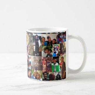 Tasse de café de collage de famille