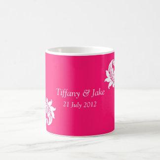Tasse de café de conception de roses indien