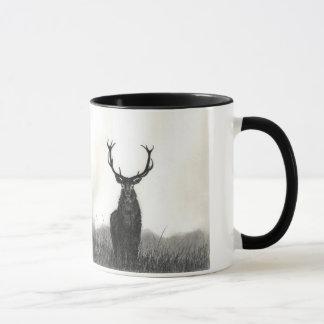Tasse de café de contraste d'animaux sauvages
