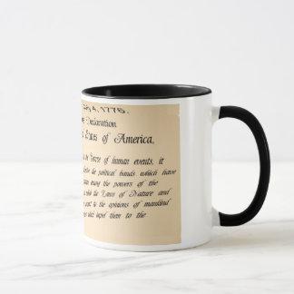 Tasse de café de déclaration d'indépendance