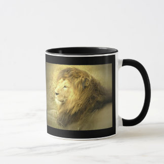 Tasse de café de fierté de lion