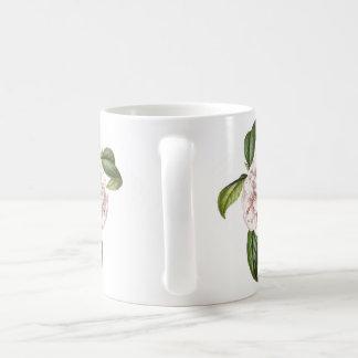 Tasse de café de fleur de camélia
