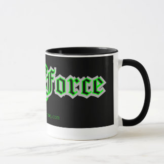 Tasse de café de force de geek