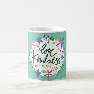 Tasse de café de gentillesse d'amour
