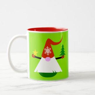 Tasse de café de gnome de Noël