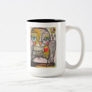 Tasse de café de hibou !  Soyez sage et suivez vos