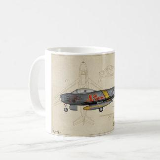 Tasse de café de jet du sabre F-86