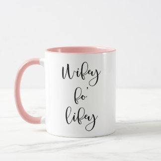 Tasse de café de jeune mariée d'épouse de Wifey Fo