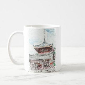 Tasse de café de Kyoto Japon de temple de