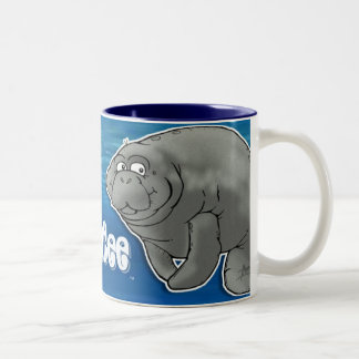 Tasse de café de lamantin d'ami
