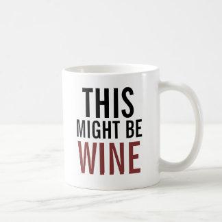 Tasse de café de l'amateur de vin