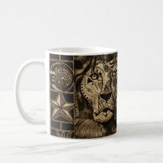 Tasse de café de l'hurlement du lion troisième