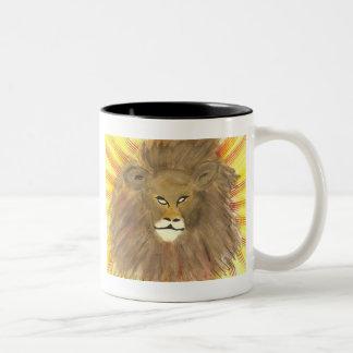 Tasse de café de lion