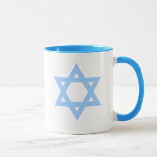 Tasse de café de l'Israël de vivats d'étoile de
