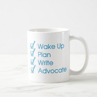 Tasse de café de liste de contrôle