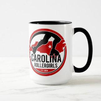 Tasse de café de logo de la Caroline Rollergirls