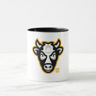 Tasse de café de logo de tête de vache au
