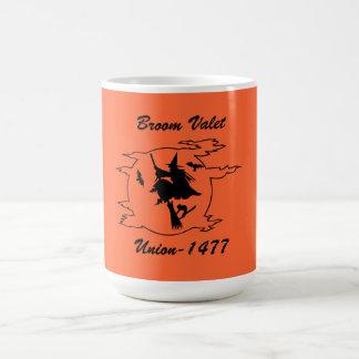 Tasse de café de l'union de valets de balai