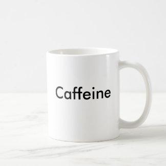 Tasse de café de molécule de caféine