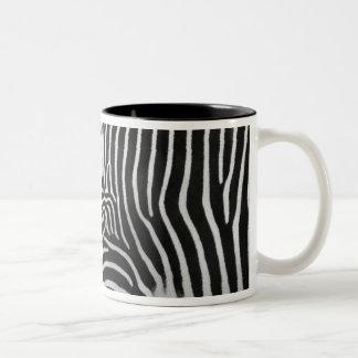 Tasse de café de motif de rayure de zèbre