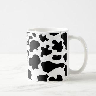Tasse de café de motif de vache