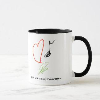 Tasse de café de musique d'amour