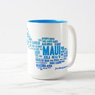 Tasse de café de nuage de mot de Maui