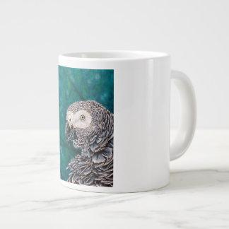 Tasse de café de perroquet de gris africain -