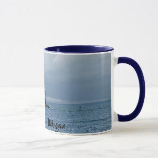 Tasse de café de phare d'île de Mackinac, Michigan
