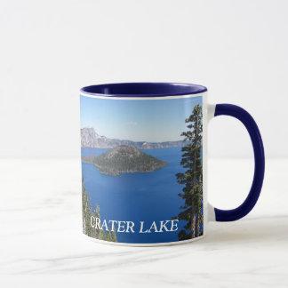 Tasse de café de photo de parc national de lac