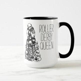Tasse de café de poignée de noir de la Reine de