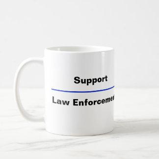 "Tasse de café de police ""de Blue Line mince"""