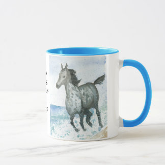 Tasse de café de poney de Personalisable Connemara