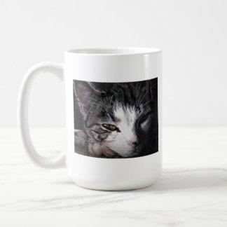 Tasse de café de portrait de chat