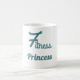 Tasse de café de princesse de forme physique