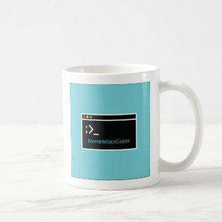 Tasse de café de programmeur ou de codeur liée au