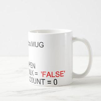 Tasse de café de programmeurs de serveur de SQL