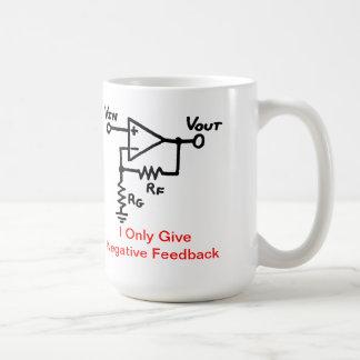 Tasse de café de rétroaction négative