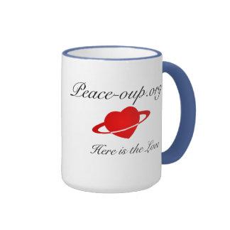 Tasse de café de sonnerie - 15oz - Bleu de poudr