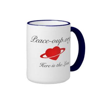 Tasse de café de sonnerie - 15oz - bleu marine