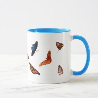 tasse de café de sonnerie de papillon