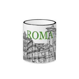 tasse de café de souvenir de voyage de Rome - cust