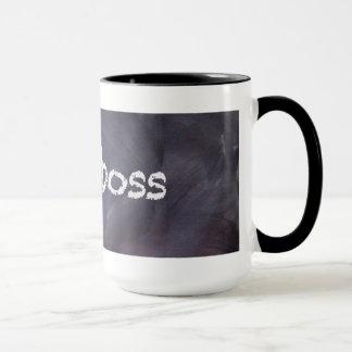 Tasse de café de tableau et de patron de craie