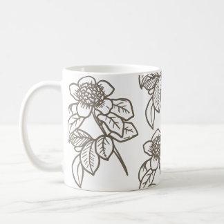 Tasse de café de tournesol de Brown