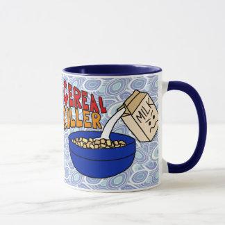 Tasse de café de tueur de céréale, carton fâché de