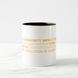 Tasse de café de typographie de TCS