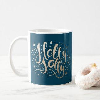 Tasse de café de vacances du houx très  