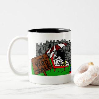 Tasse de café de vente de bric-à-brac de cour