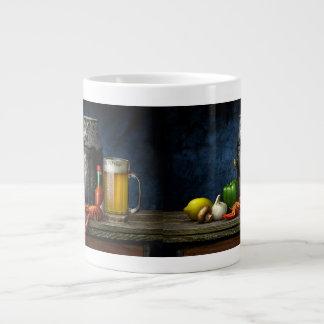 Tasse de café d'écrevisses et de bière